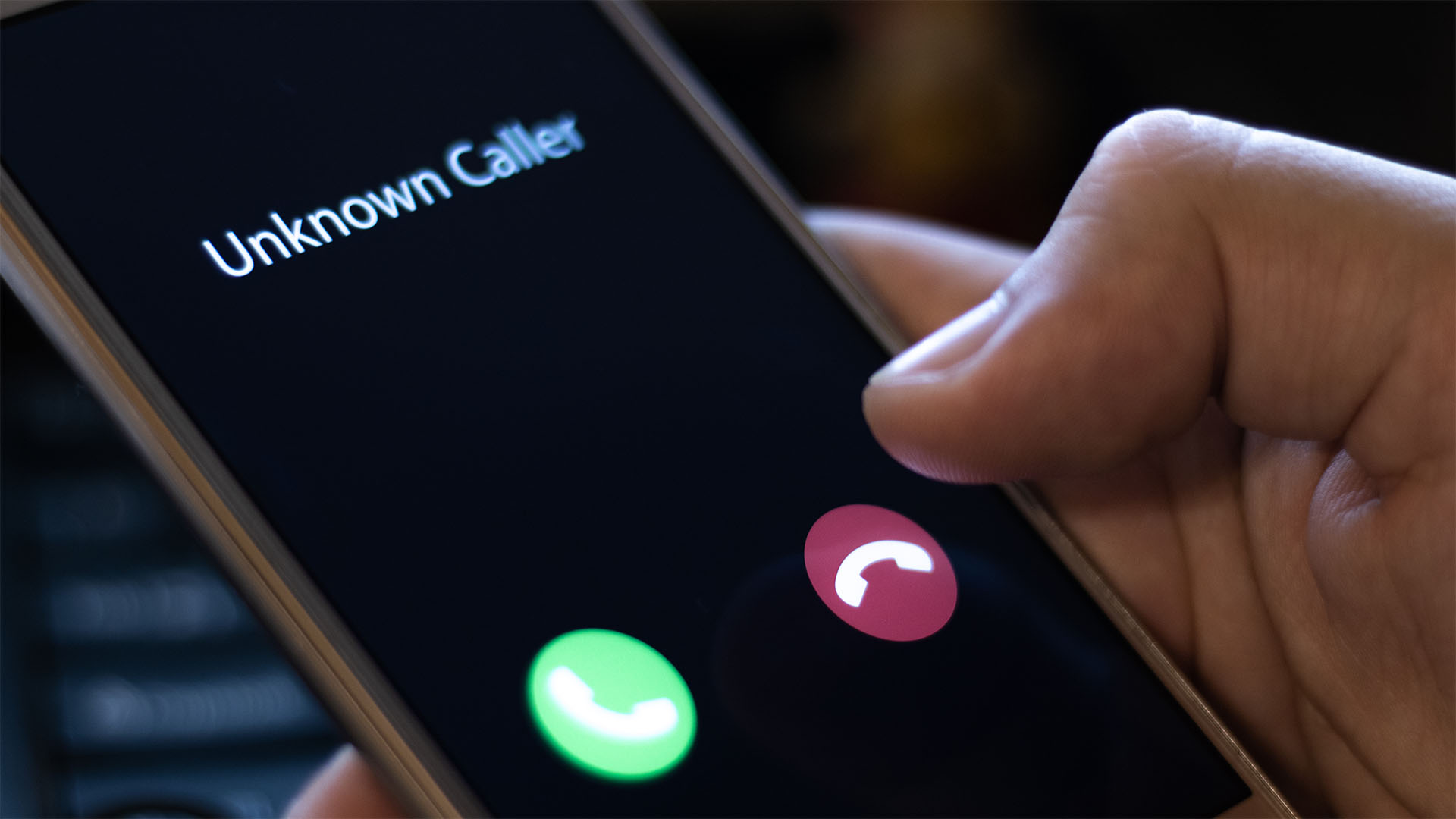 small business owner rejecting a robocall from an unknown caller