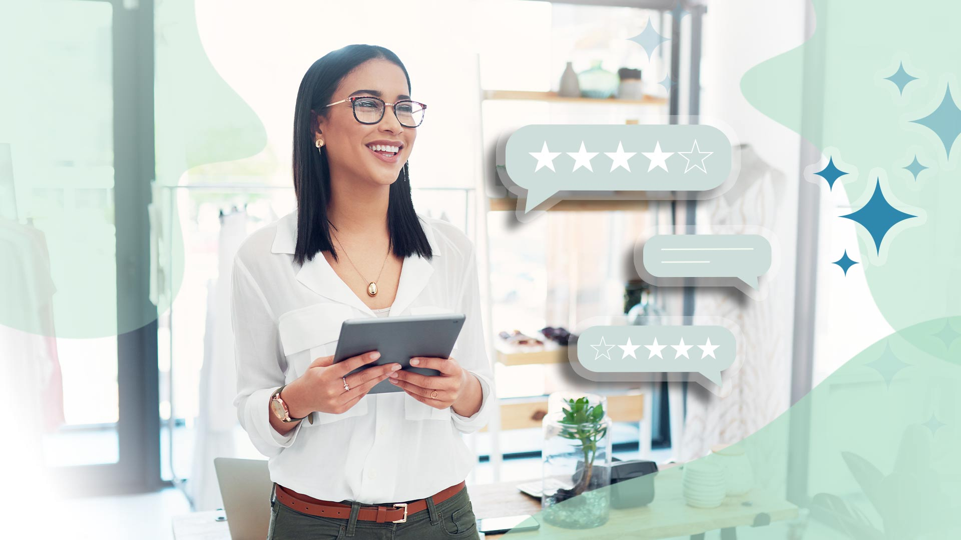 small business owner building new reviews